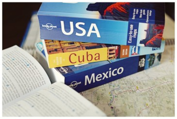 Trip planning maps and books